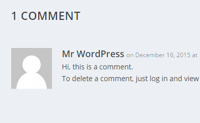 Change Comment Text Color in Extra